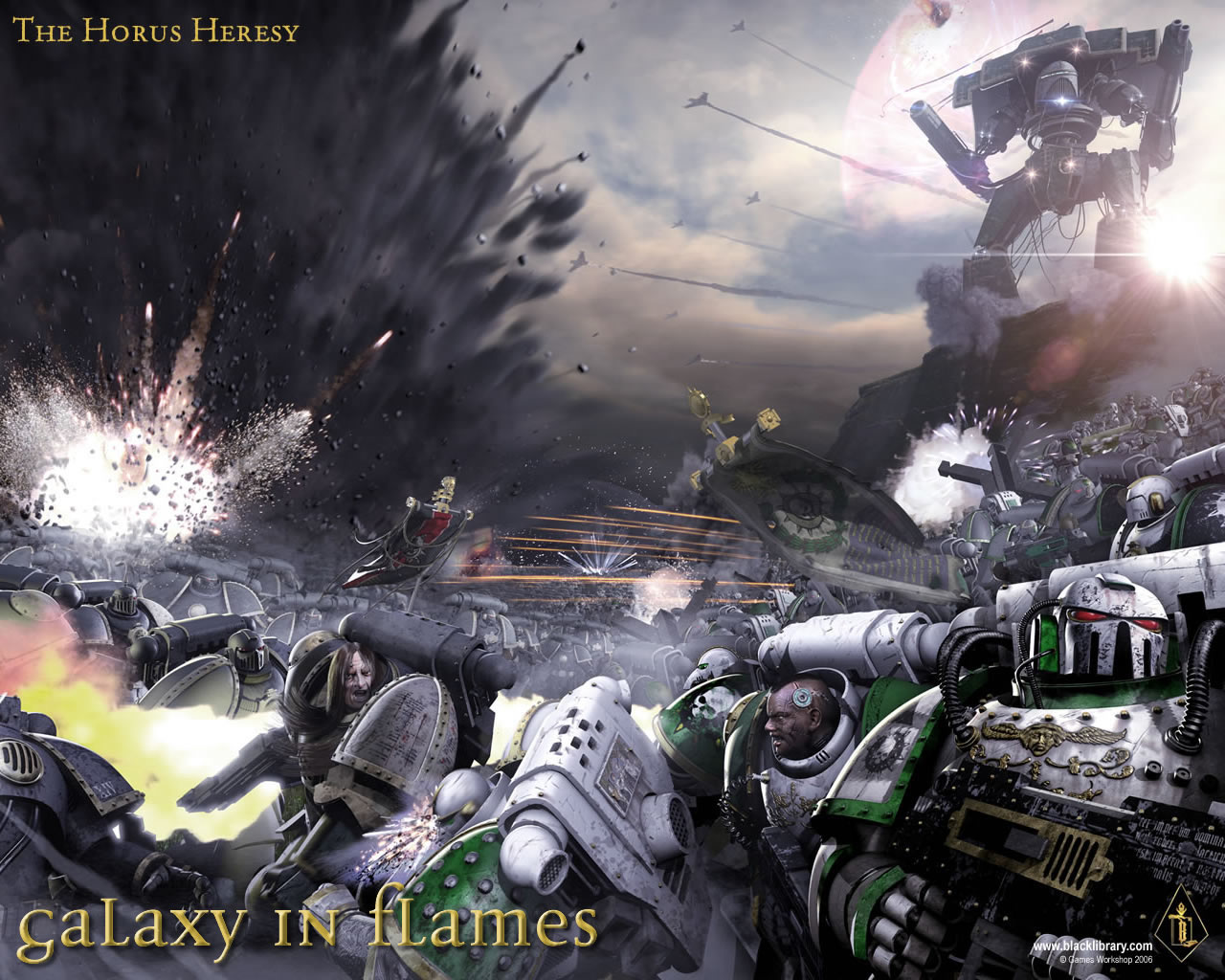 Warhammer 40k – The Horus Heresy – Galaxy in Flames Wallpaper