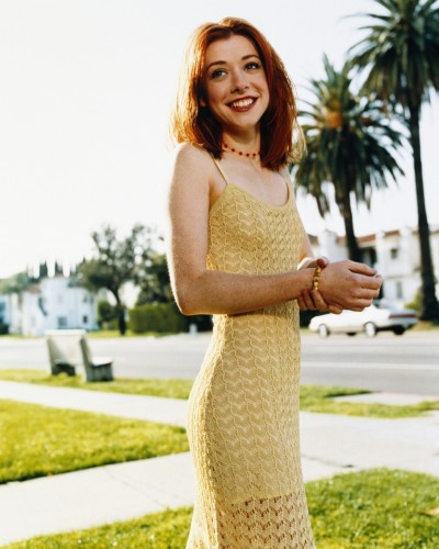 Alyson Hannigan - Yellow Dress