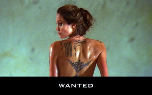 angelian jolie wanted 500x312 angelian jolie   wanted Wallpaper Tattoos Sexy Movies