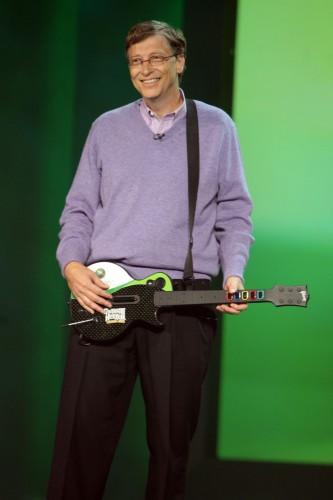 Bill Gates On Rock Bank