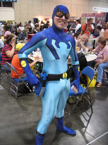 Blue Beatle Cosplayer