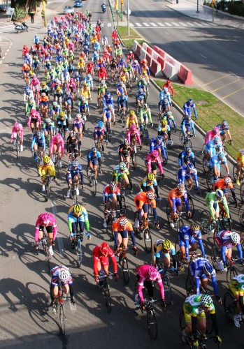 colorful bikers
