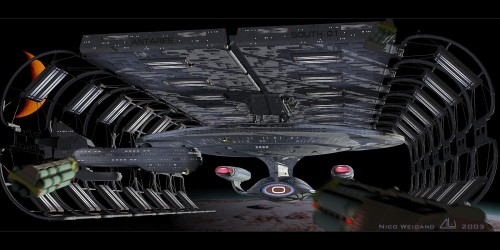 enterprise d - orbital shipyard