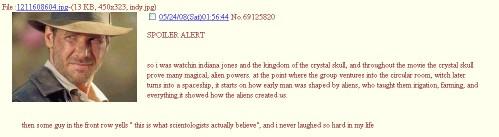 indiana jones - scientology