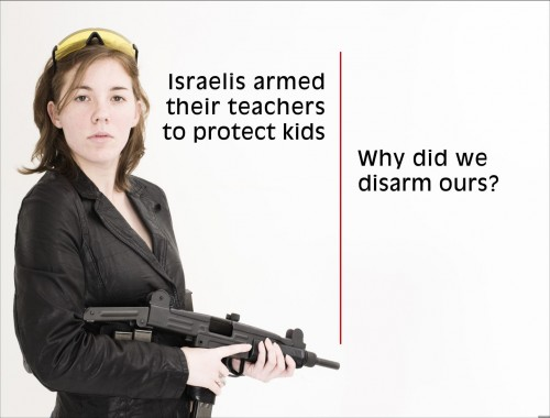 israelis armed their teacher to protect kids - why did we disarm ours