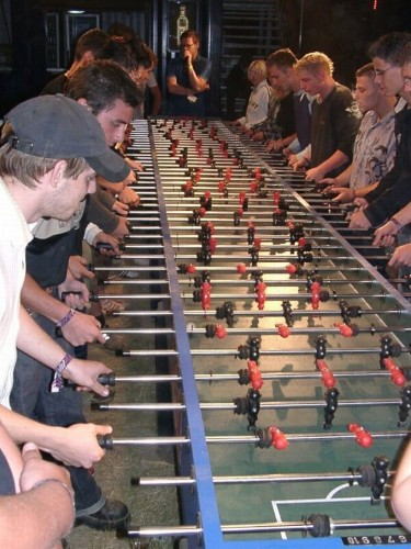 long foosball table