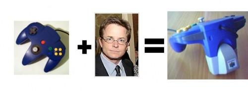 Michael J Fox + N64 Controller=Rumblepack