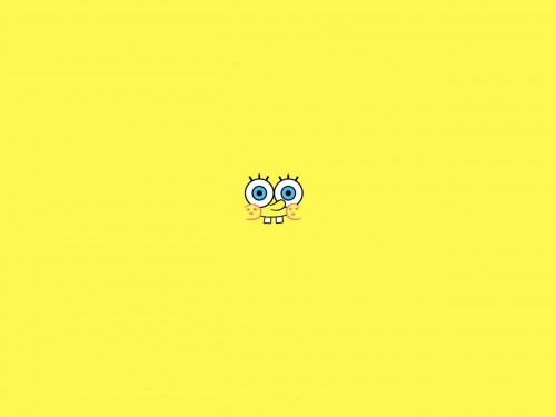 sponge bob - yellow wallpaper