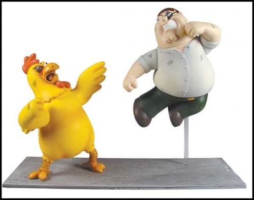 Chicken vs Peter figures