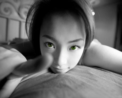 green eyed asian