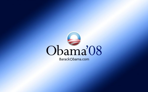 Obama 2008 Blue Wallpaper