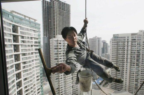 Risky Window Cleaner