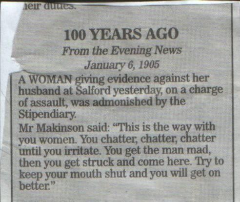 100 Years Ago – Chatter Woman