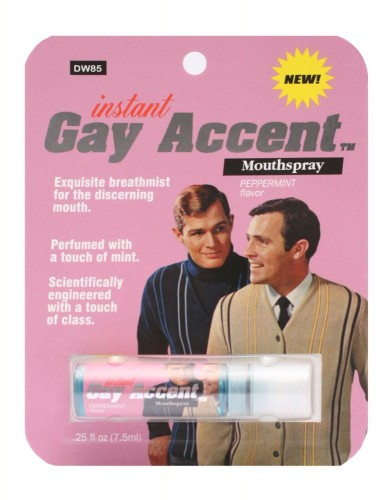 Gay Accent Mouth Spray