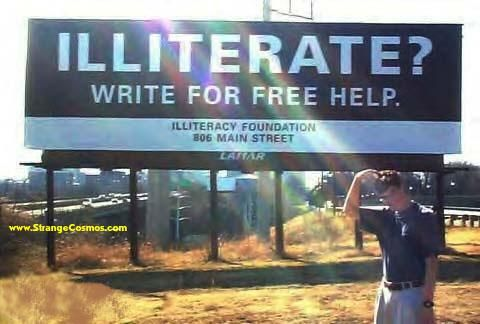 Illiterate - write for help
