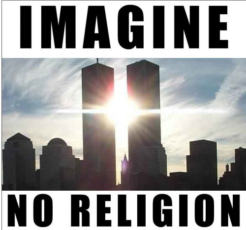 imagine 500x468 Imagine No Religion Religion Dark Humor 9 11