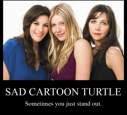 sad cartoon turtle - sometimes you just stand out