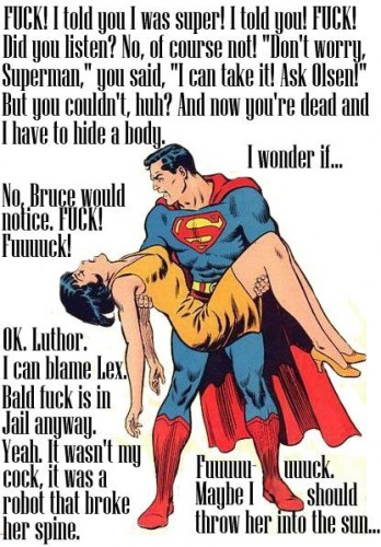 Superman Blames Luthor