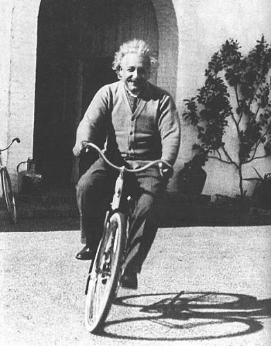 Einstein On A Bike