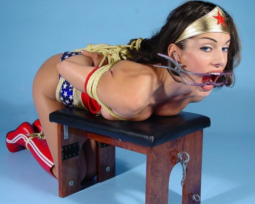 NSFW - wonder woman - bound and gagged