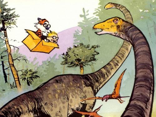 Calvine And Hobbes Vs Dinosaurs