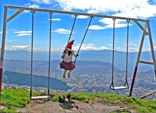Cliffside Swingset