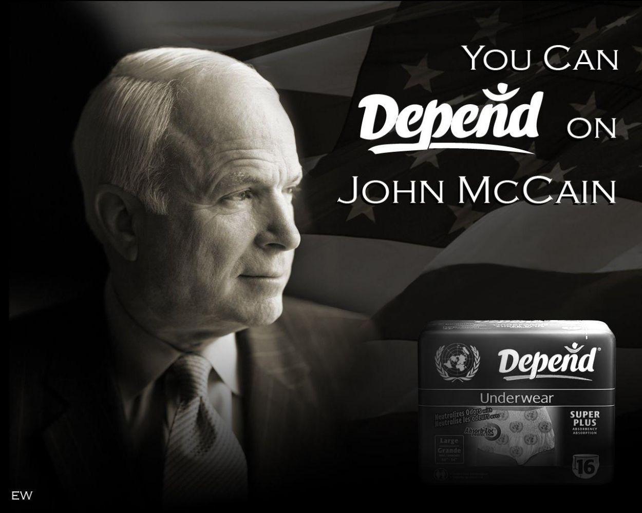Depend on John McCain