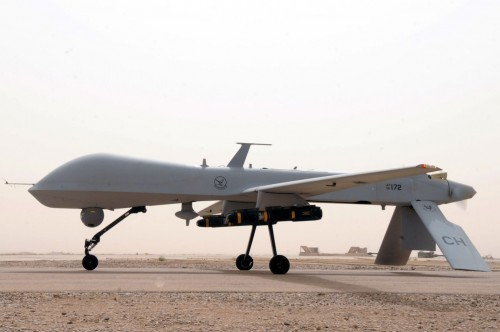 MQ-1 Predator unmanned aircraft from the 361st Expeditionary Reconnaissance Squadron