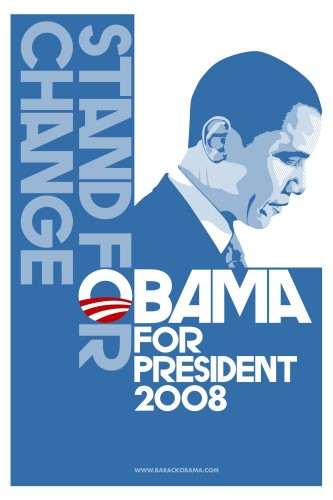 stand for change - obama for president 2008
