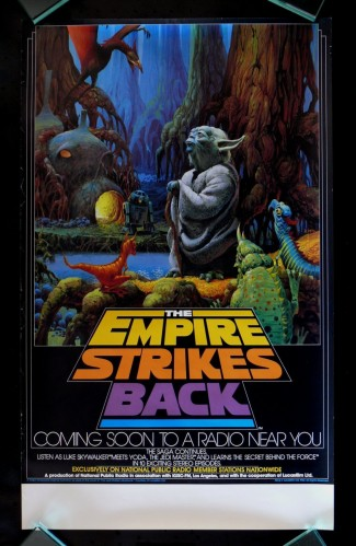 Star wars - the empire strikes back radio poster