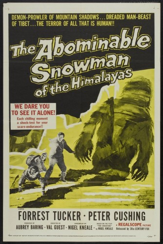 abominable snowman of the himalayas - movie poster