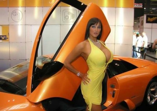 Busty Car Model