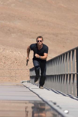 Daniel Craig Running Up Stairs