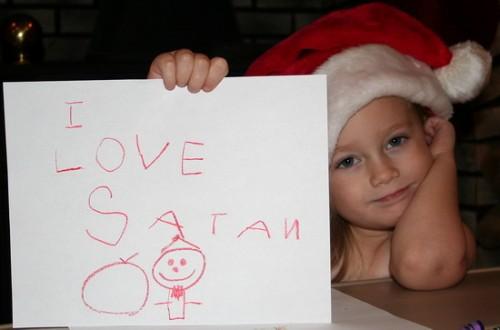 i love satan 500x330 I love Satan X Mas Religion Humor