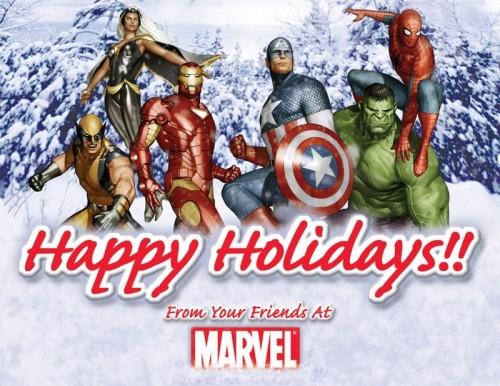 marvel comics - happy hollidays