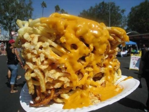 Melted Cheese On Fries