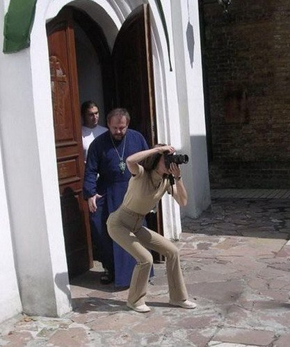 Photographer in danger