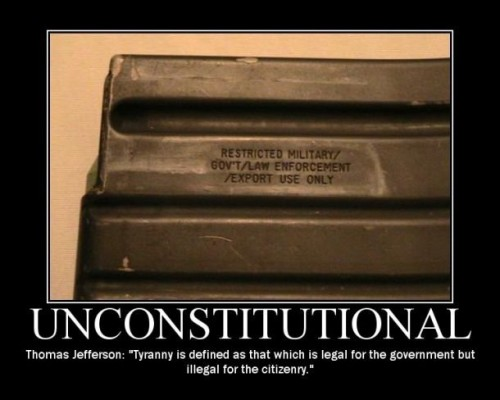 unconstitutional weapons ban