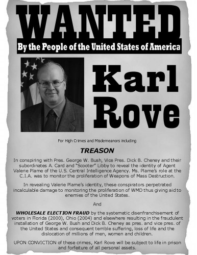 Wanted - Karl Rove