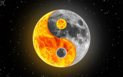 yin yang wallpapers. Yin Yang Moon - December 21, 2008 added by tiki god | Images