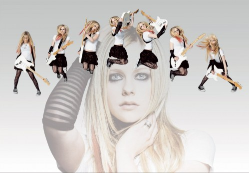 Avril Lavigne Jumps Over her own head