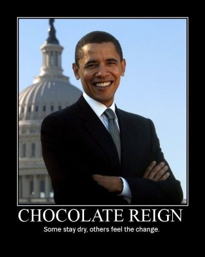 chocolate reign - some stay dry, others feel the change