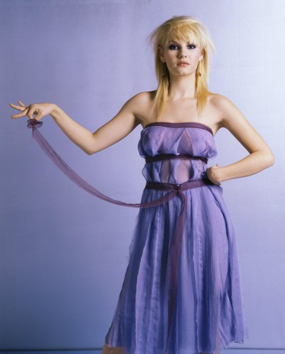 Elisha cuthbert - see through purple dress