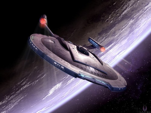 Enterprise NX01 Breaking Orbit