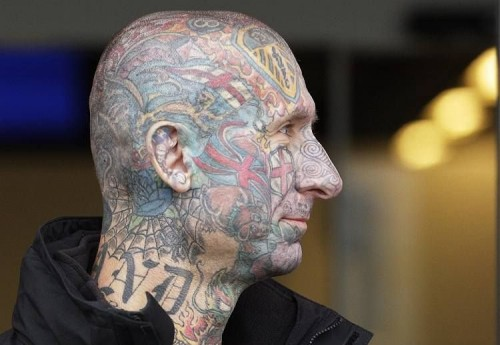 face ink 500x345 Face Ink wtf Tattoos