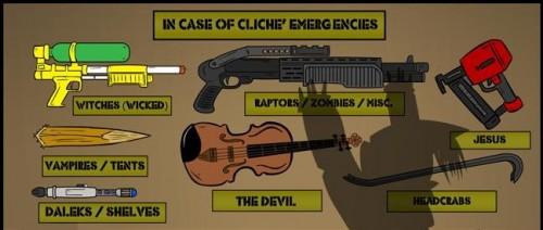 In case of cliche emergencies