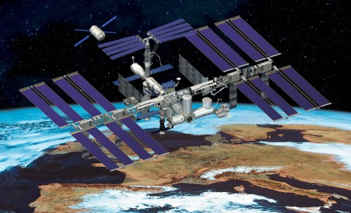 international space station 500x304 International Space Station Space NASA Art