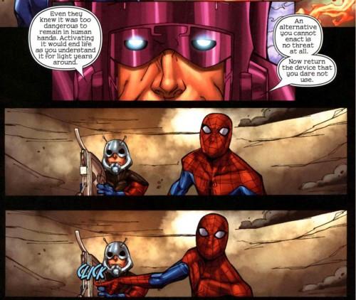 spiderman vs galactus