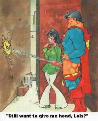 Superman should not receive head from Lois Lane