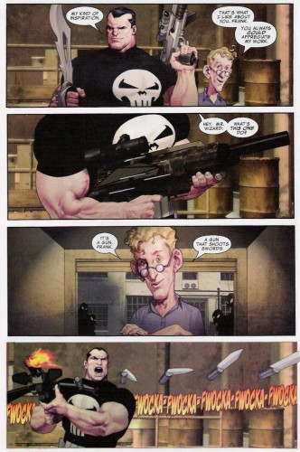 The Punisher - A gun that shoots swords